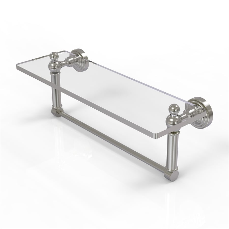 Allied Brass Waverly Place 1-Tier Satin Nickel Brass Bathroom Shelf
