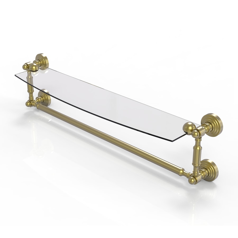 Allied Brass Waverly Place 1-Tier Satin Brass Bathroom Shelf