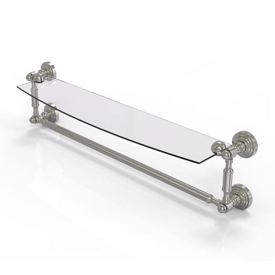 Allied Brass Waverly Place 1-Tier Satin Nickel Brass Bathroom Shelf