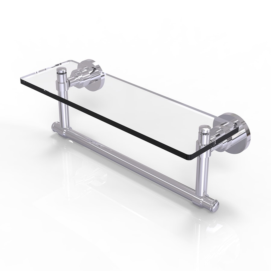 Allied Brass Washington Square Polished Chrome Brass Bathroom Shelf