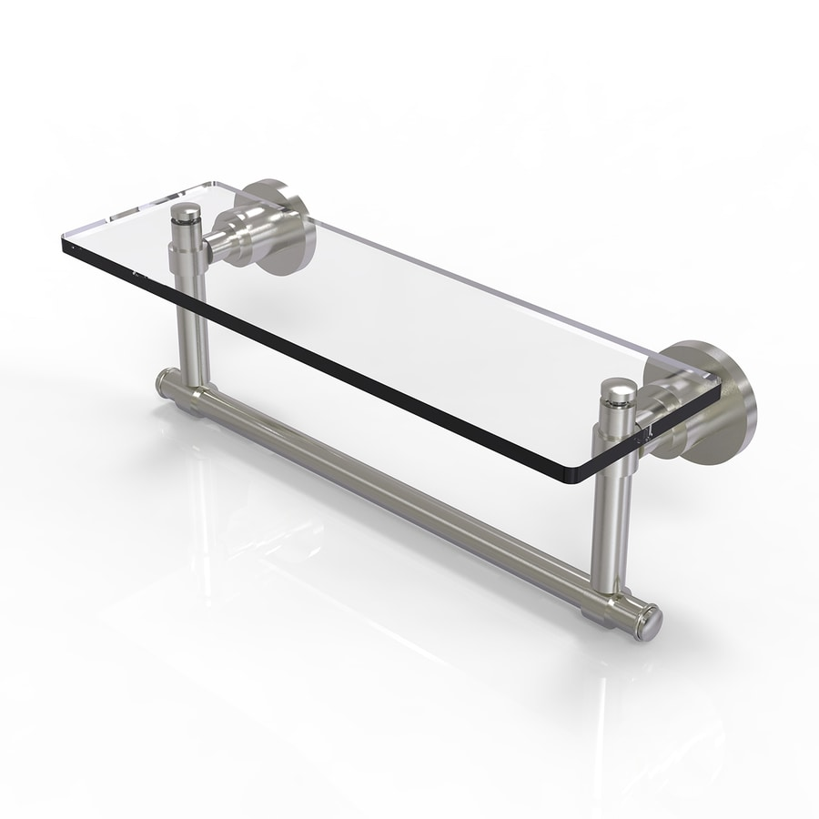 Allied Brass Washington Square Satin Nickel Brass Bathroom Shelf