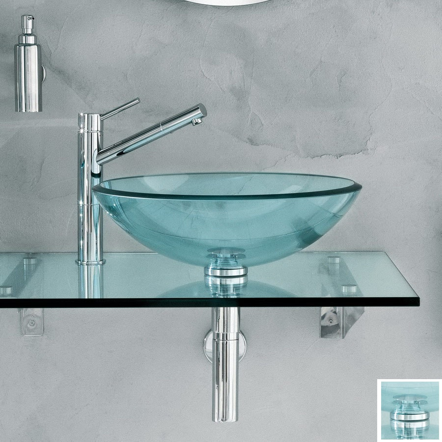 Shop WS Bath Collections Linea 39.4-in W x 19.7-in D Frosted Glass ...