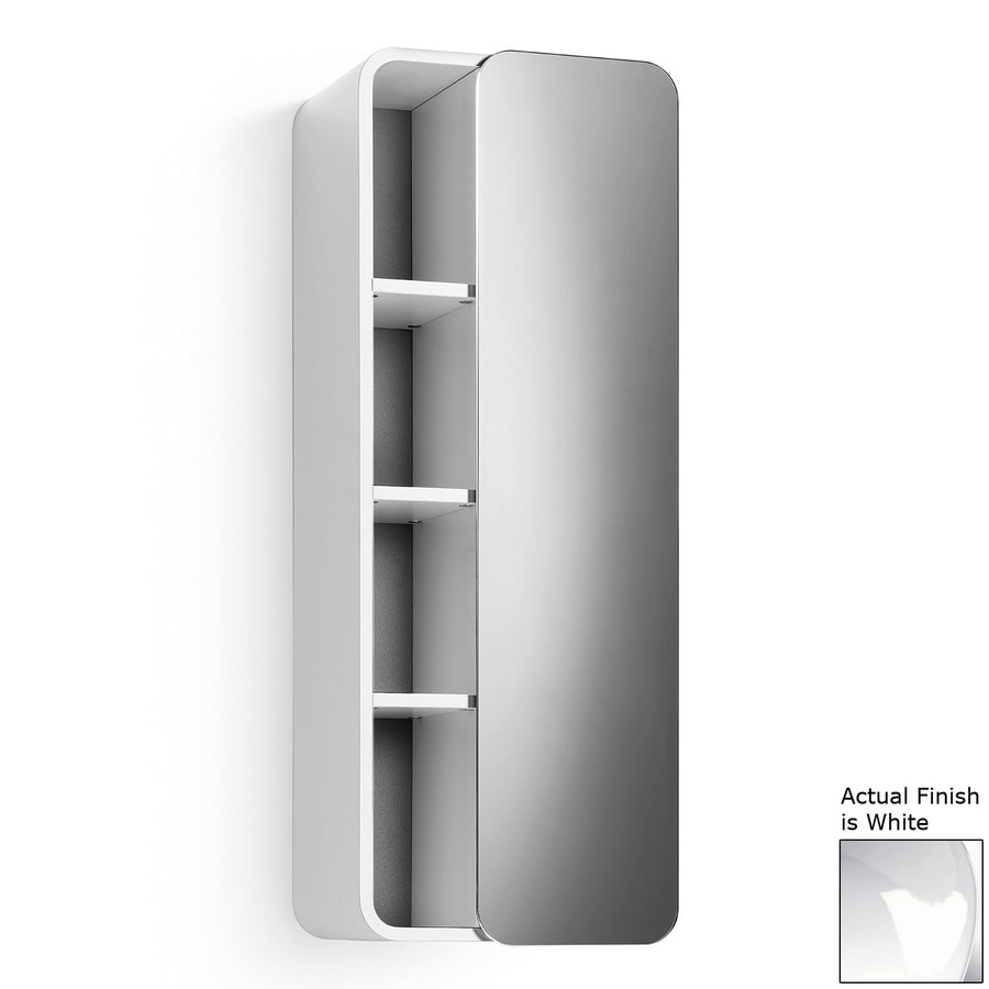 WS Bath Collections Linea 12-in W x 31.9-in H x 8.1-in D White Bathroom Wall Cabinet
