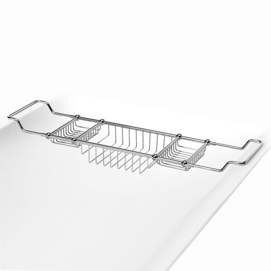 Shop WS Bath Collections Polished Chrome Solid Brass Bathtub Caddy ...