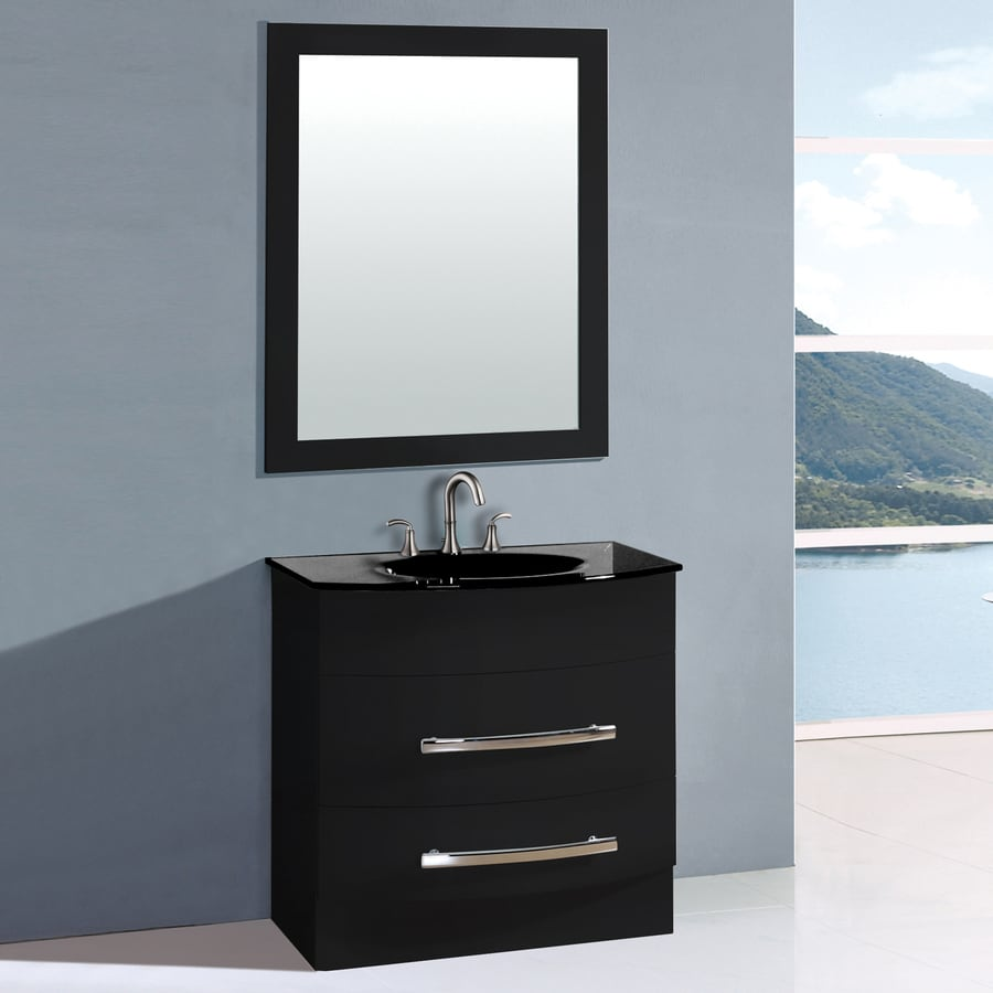 Shop Yosemite Home Decor Transitional Black Integral Single Sink ...