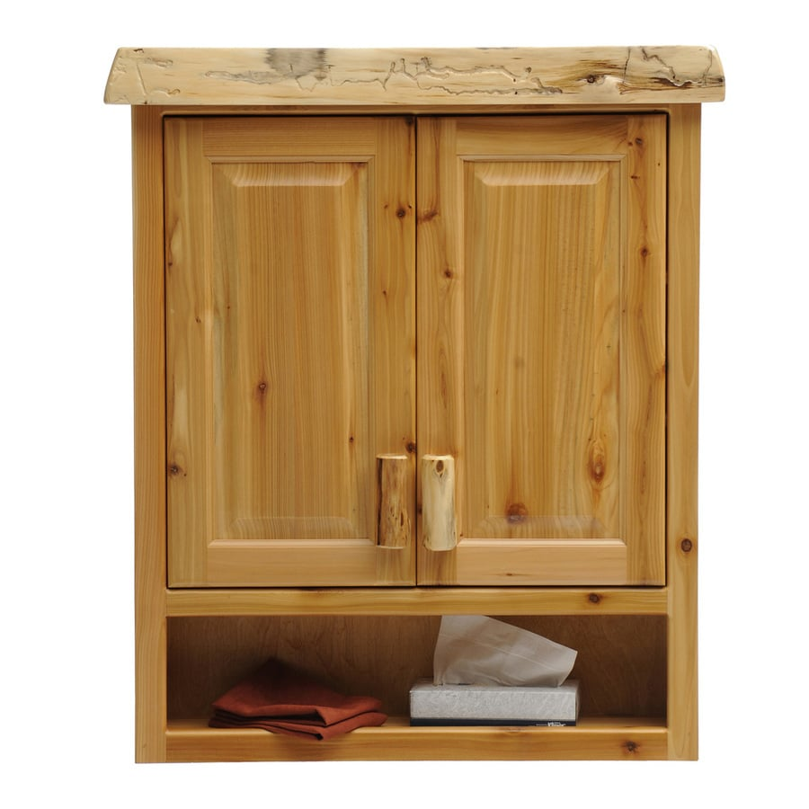 Fireside Lodge Furniture Cedar 32-in W x 36-in H x 8-in D Natural Bathroom Wall Cabinet