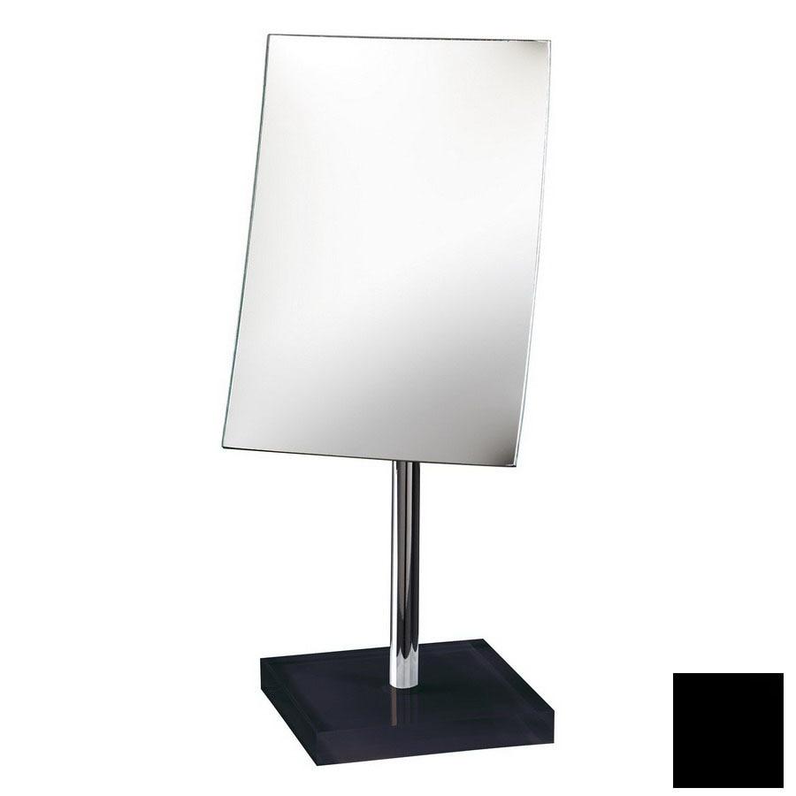 Nameeks Gedy Black Plastic Magnifying Countertop Vanity Mirror