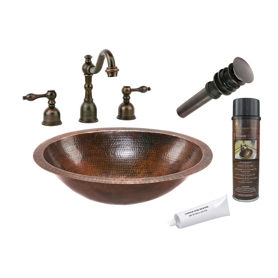 bronze bathroom sinks shop premier copper products rubbed bronze copper 12181