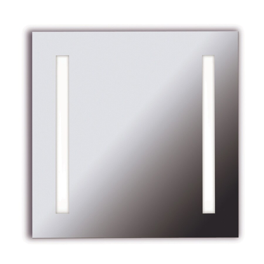 Kenroy Home Rifletta 25-in W x 25-in H Square Frameless Bathroom Mirror with Hardware and Edges