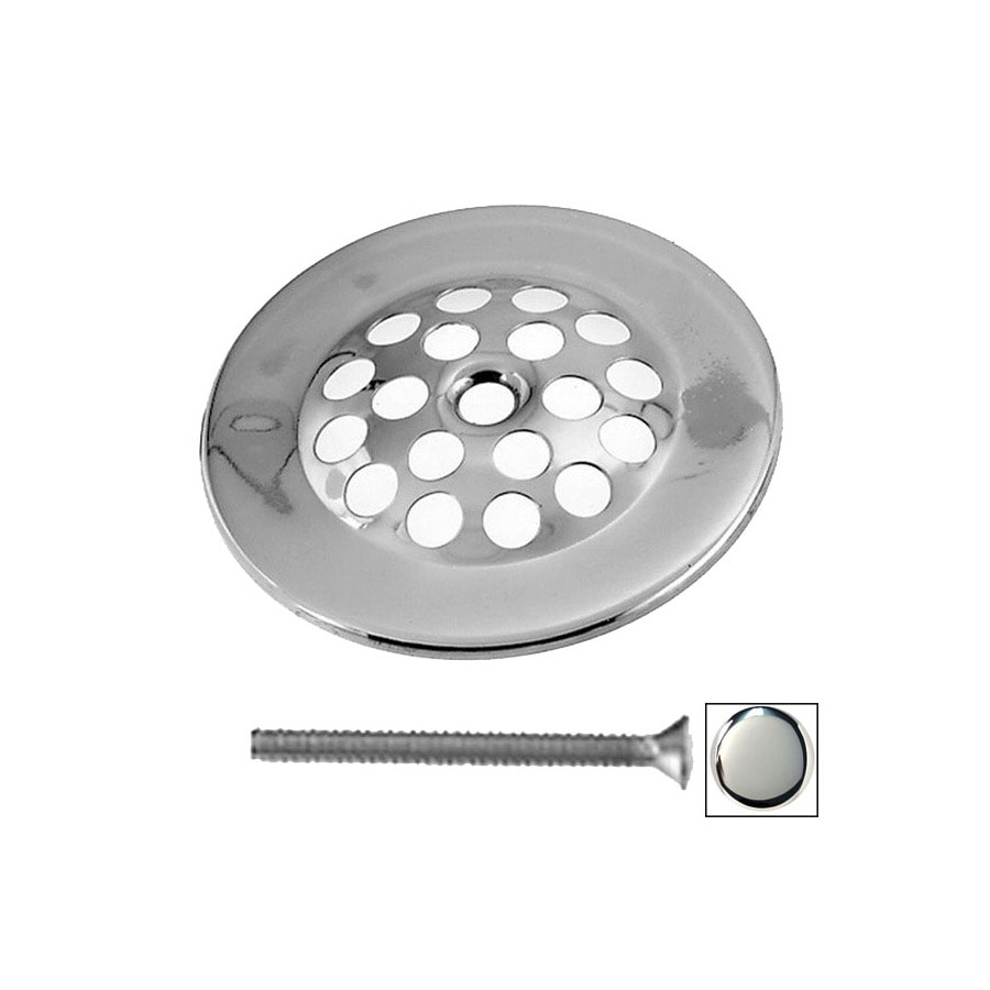 Westbrass Polished Chrome Gerber Beehive Style Bathtub Overflow Grid