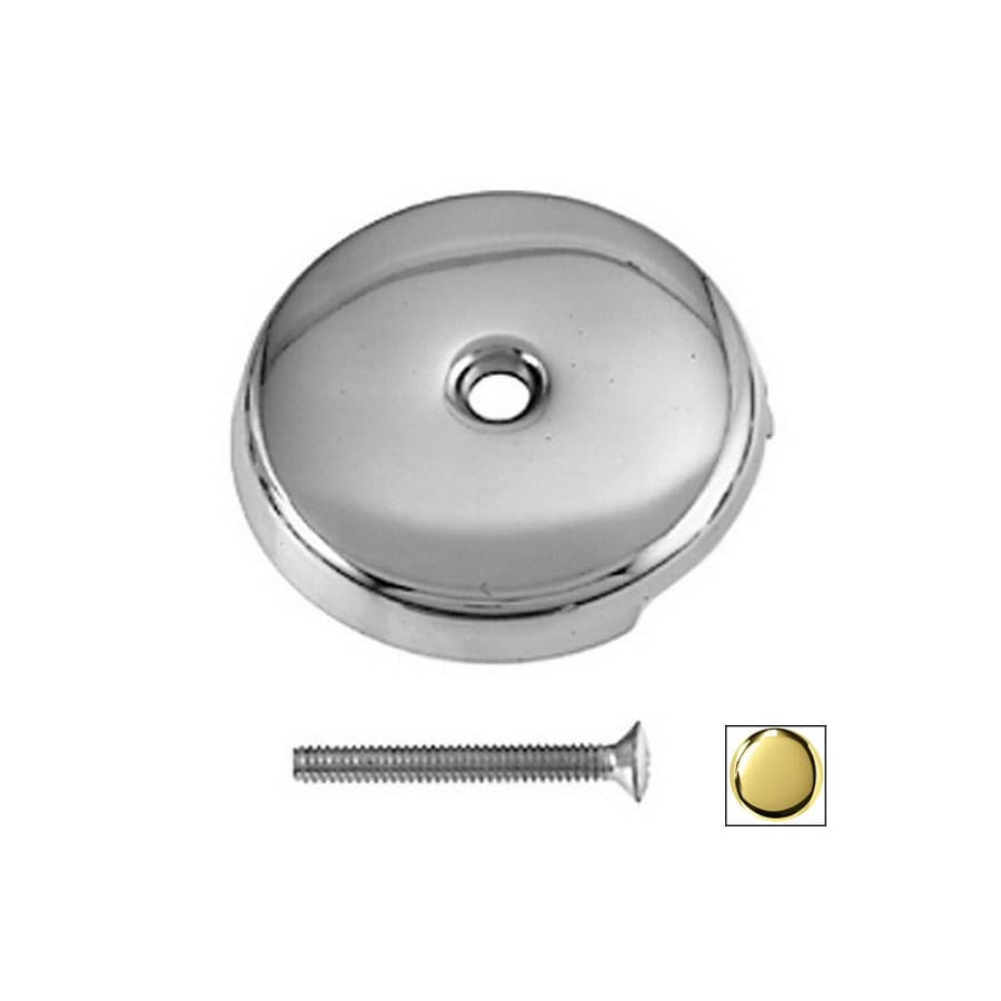 Westbrass PVD Polished Brass 1-Hole Bathtub Overflow Faceplate