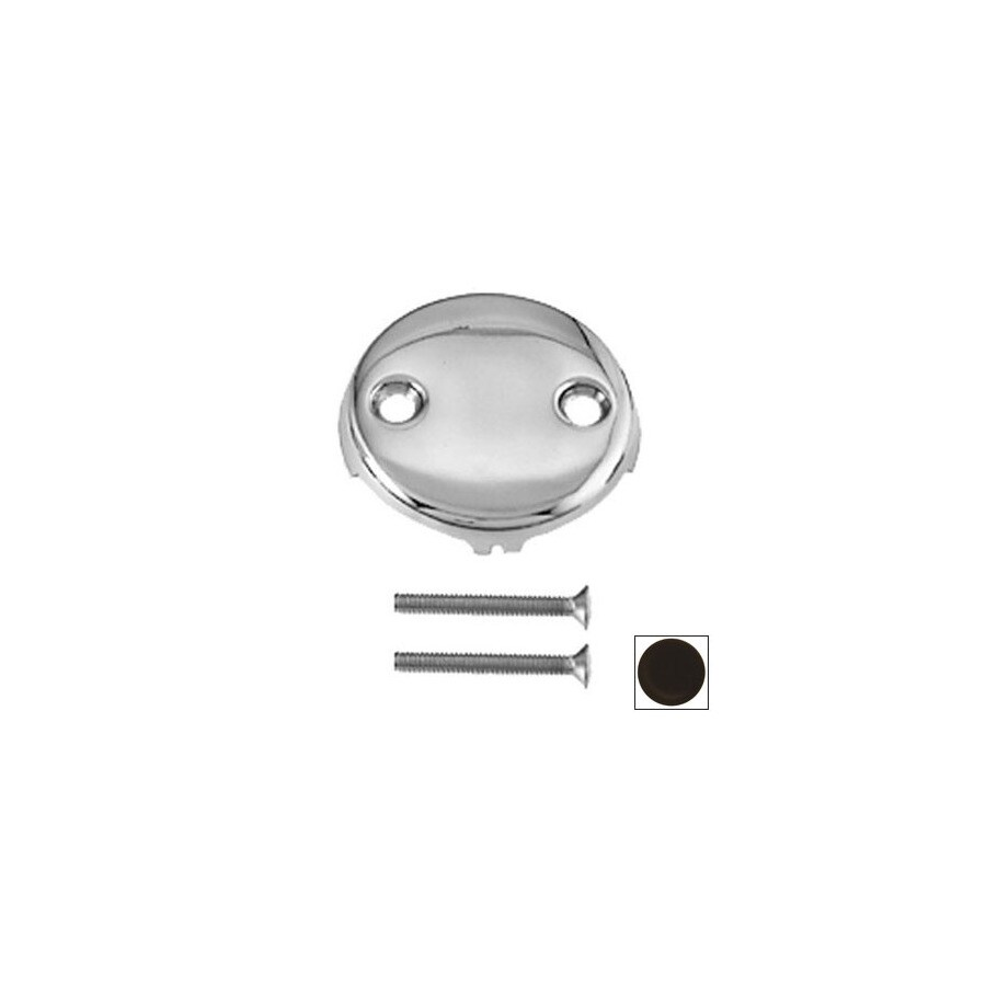 Westbrass Oil Rubbed Bronze 2-Hole Bathtub Overflow Faceplate