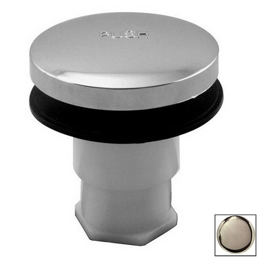 Westbrass Stainless Steel Bathtub Drain Toe Plunger