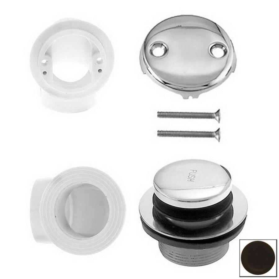 Westbrass Oil Rubbed Bronze PVC Tip Toe Bathtub Drain Plumbers Pack