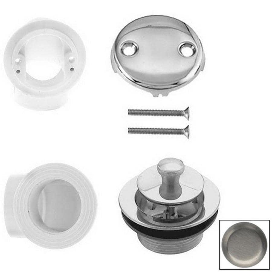 Westbrass Satin Nickel PVC Twist Close Bathtub Drain Plumbers Pack