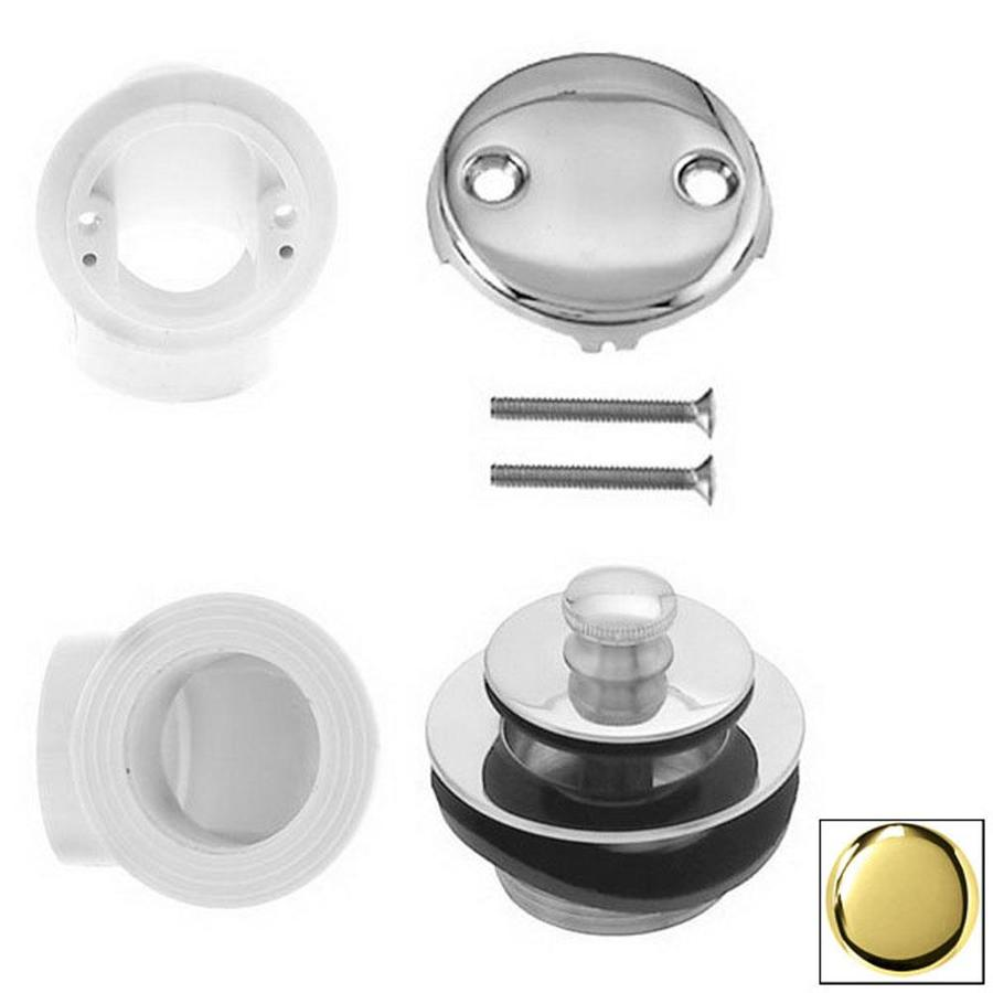 Westbrass PVD Polished Brass Pull and Drain Plumbers Pack