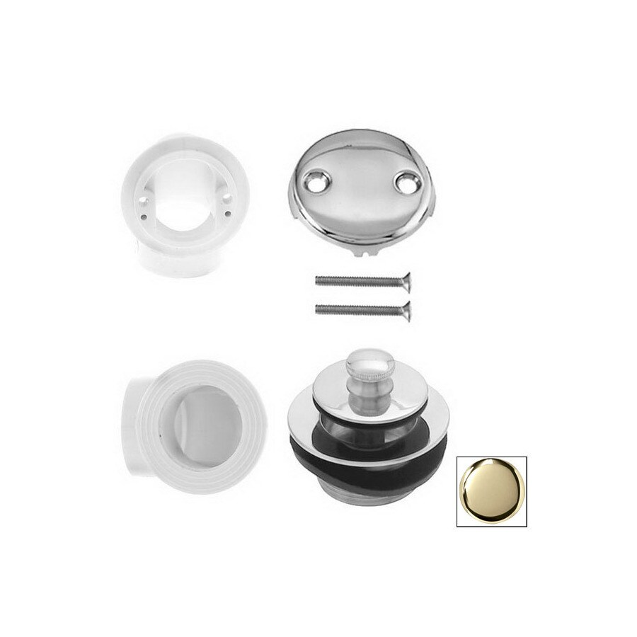 Westbrass Polished Brass Pull and Drain Plumbers Pack
