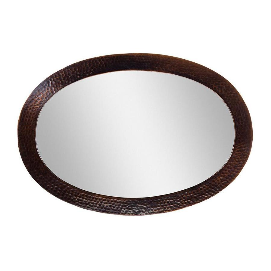 The Copper Factory Artisan Antique Copper Polished Oval Wall Mirror