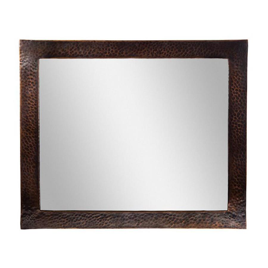 The Copper Factory Artisan Antique Copper Polished Wall Mirror