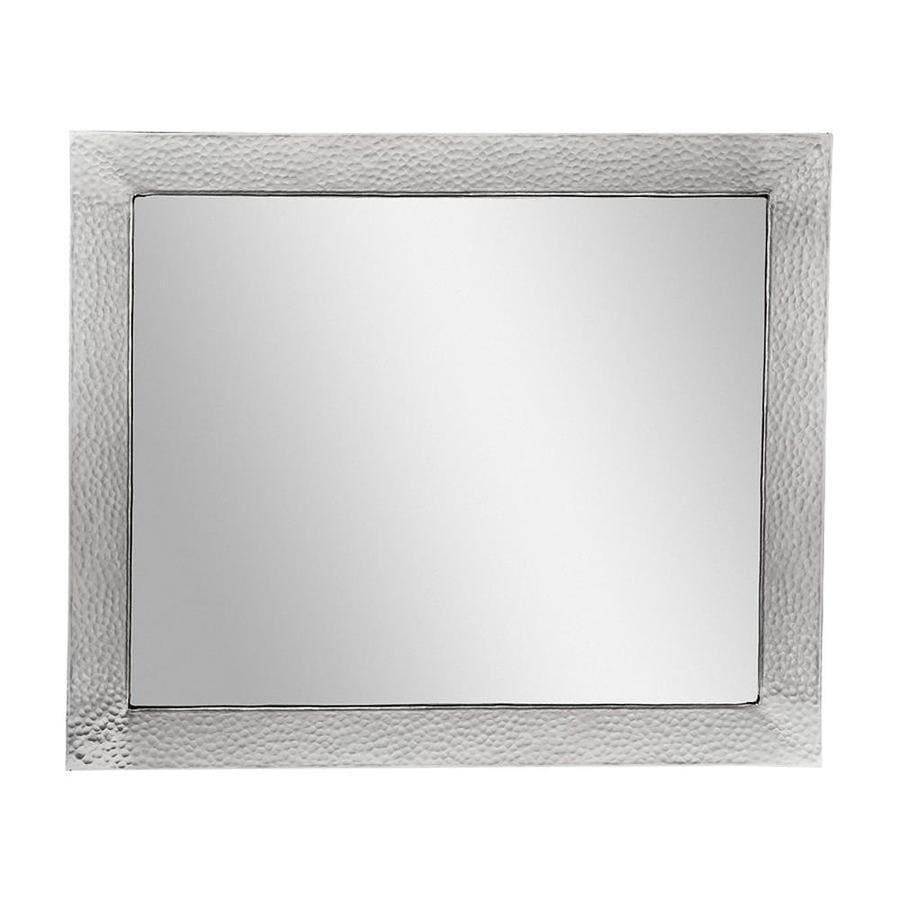 The Copper Factory Artisan 25-in W x 21-in H Satin Nickel Rectangular Bathroom Mirror
