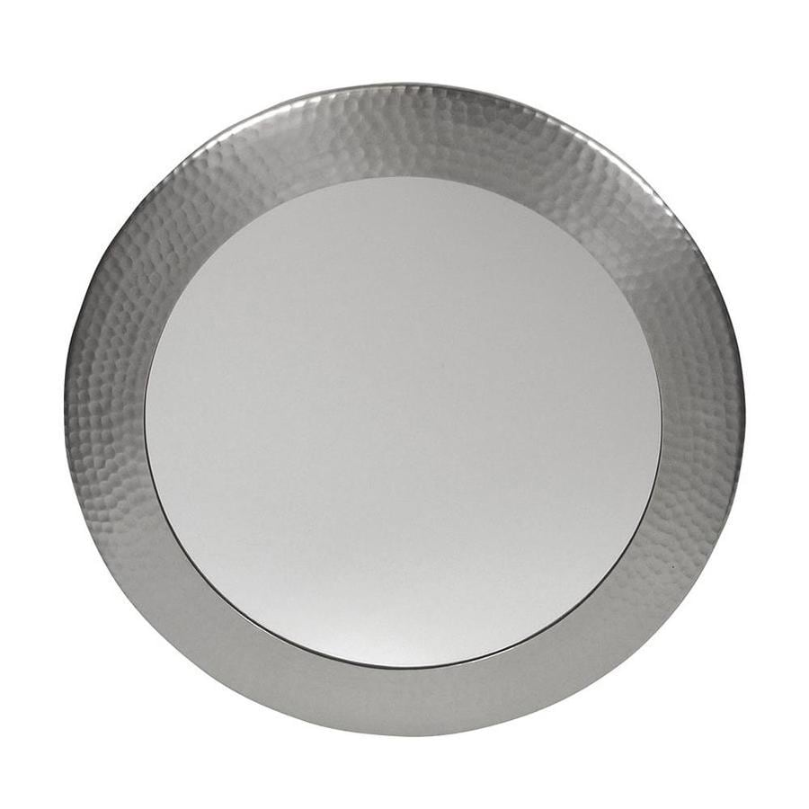 The Copper Factory Artisan 19.5-in W x 19.5-in H Satin Nickel Round Bathroom Mirror