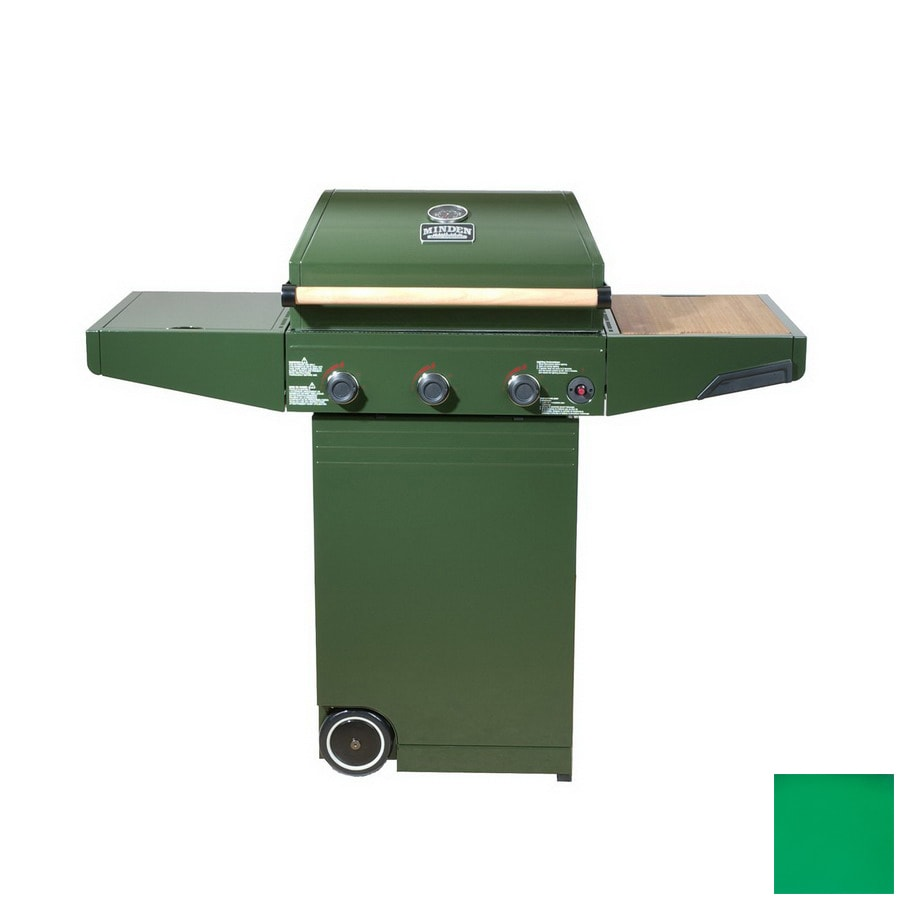 Minden Green 3-Burner (30,000-BTU) Liquid Propane Gas Grill