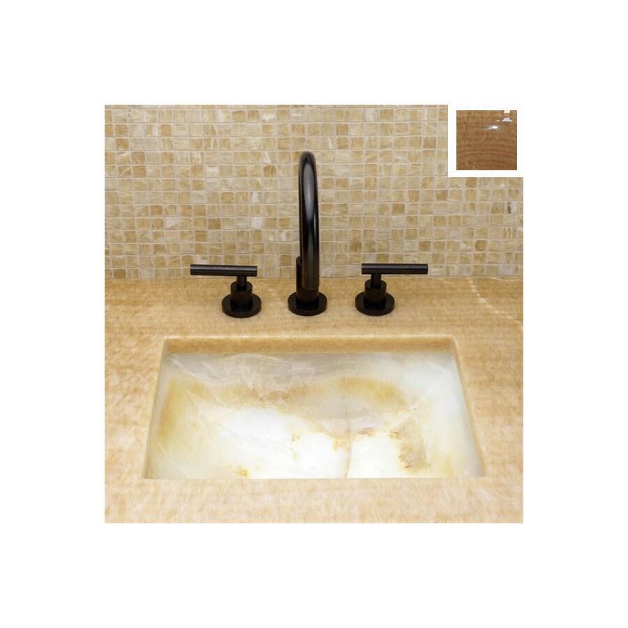 Terra-Acqua Montecito 16-in x 20.5-in Honey Onyx Single-Basin Granite Undermount Kitchen Sink