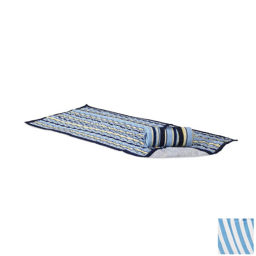 Twotree Blue Stripe Beach Mat and Carrier