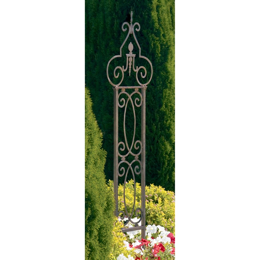 H. Potter Scroll 18-in W x 67-in H Charcoal Brown Scroll Garden Trellis