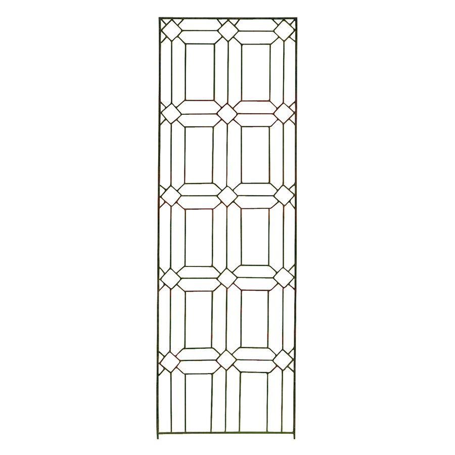 H. Potter Diamond 24-in W x 72-in H Charcoal Brown Garden Trellis