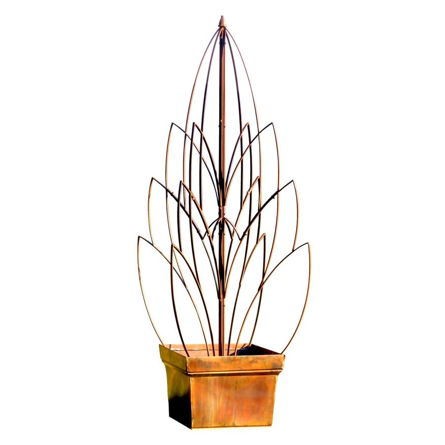 H. Potter Lotus Bud 43-in W x 66-in H Charcoal Brown Leaf Garden Trellis