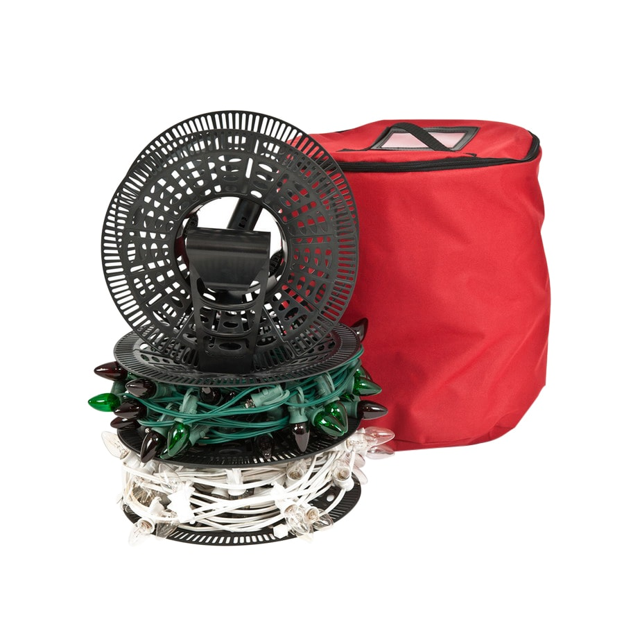 TreeKeeper 3-Reel 600-Light Red String Light Storage Container