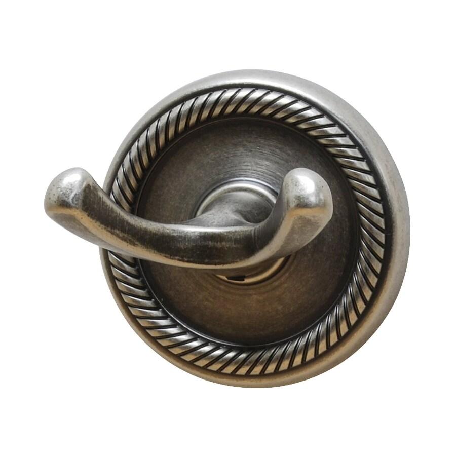 Residential Essentials Woodrich 2-Hook Aged Pewter Robe Hook