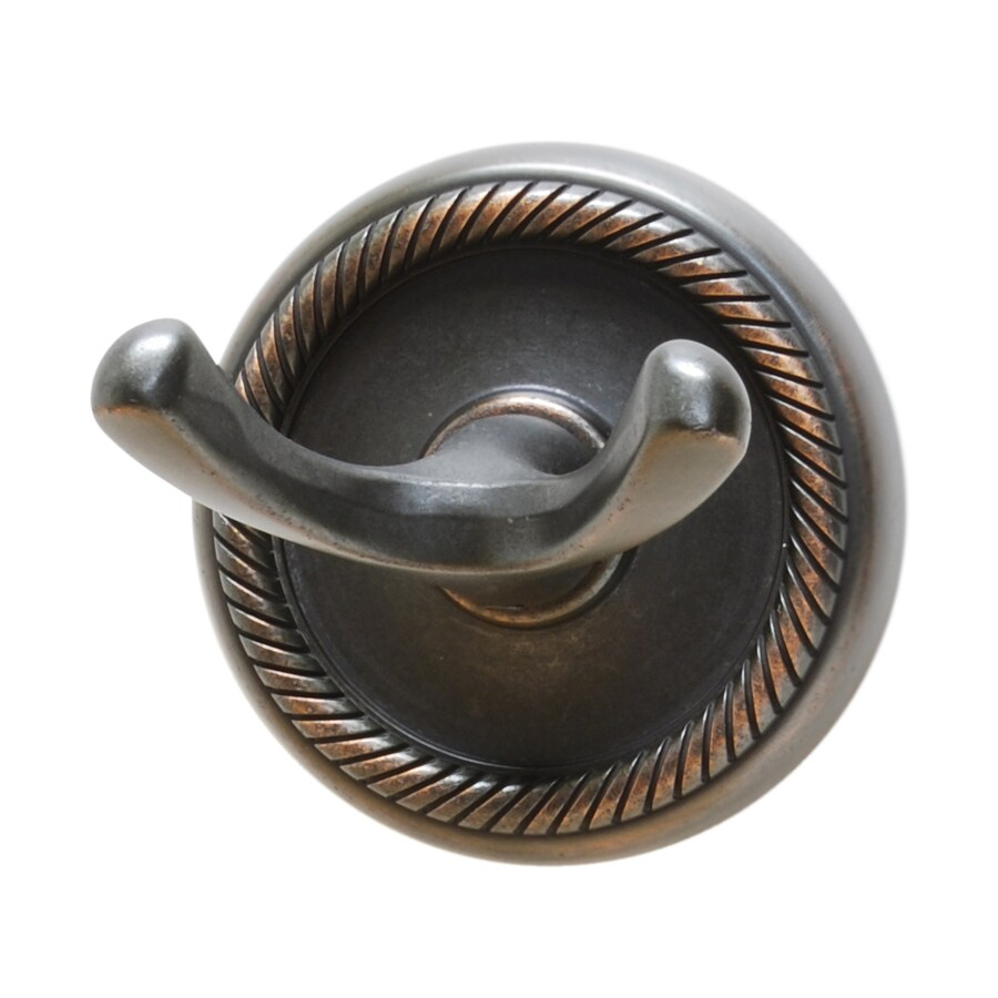 Residential Essentials Woodrich 2-Hook Venetian Bronze Robe Hook