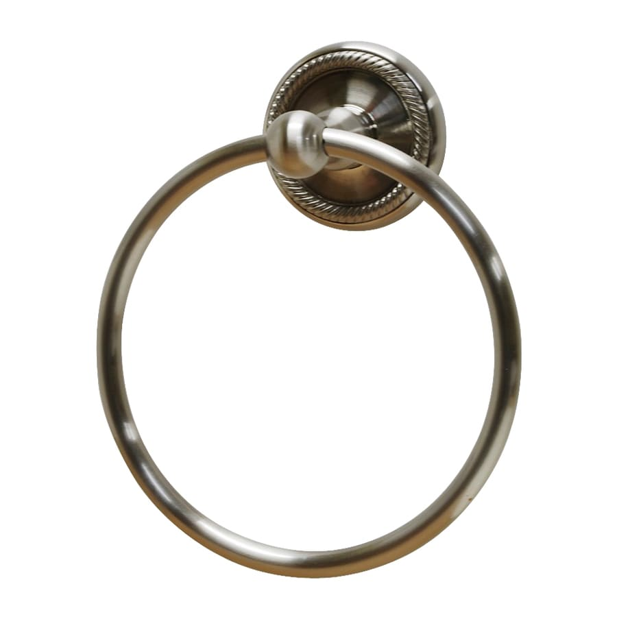 Residential Essentials Woodrich Satin Nickel Wall-Mount Towel Ring