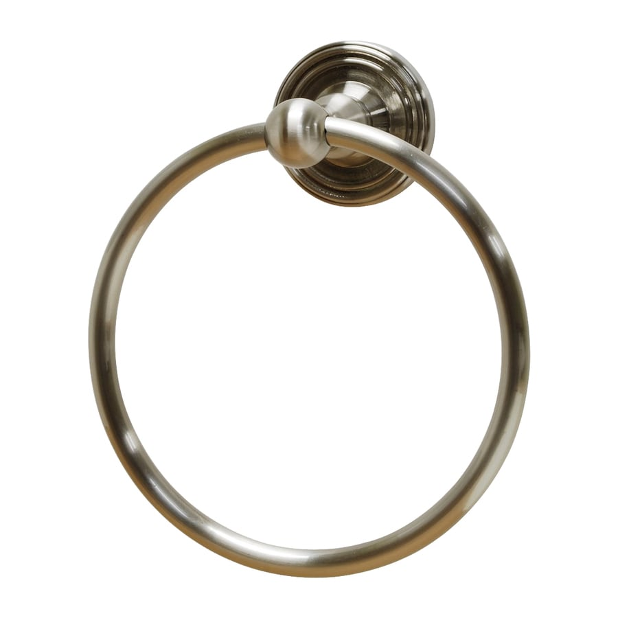 Residential Essentials Bradford Satin Nickel Wall-Mount Towel Ring