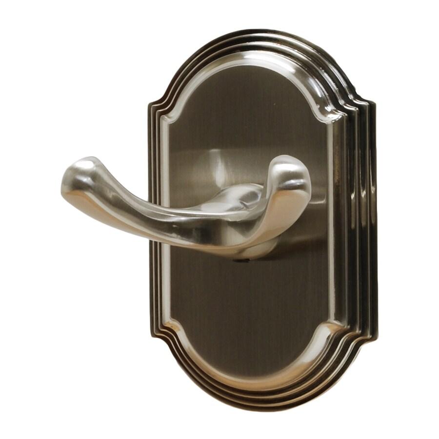Residential Essentials Ridgeview 2-Hook Satin Nickel Robe Hook