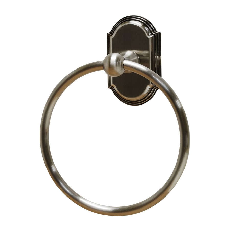 Residential Essentials Ridgeview Satin Nickel Wall-Mount Towel Ring