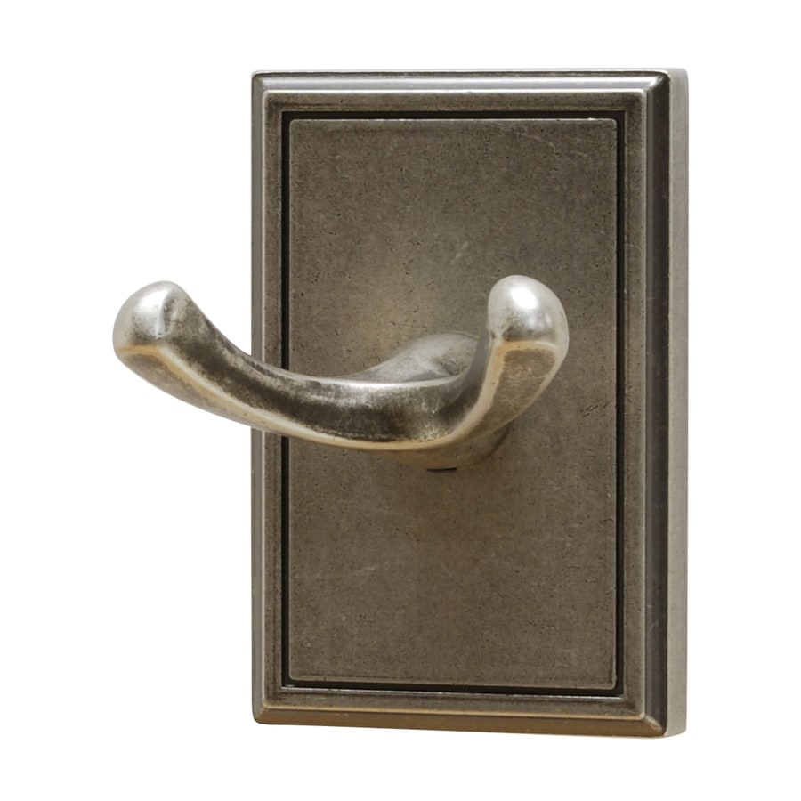 Residential Essentials Hamilton 2-Hook Aged Pewter Robe Hook