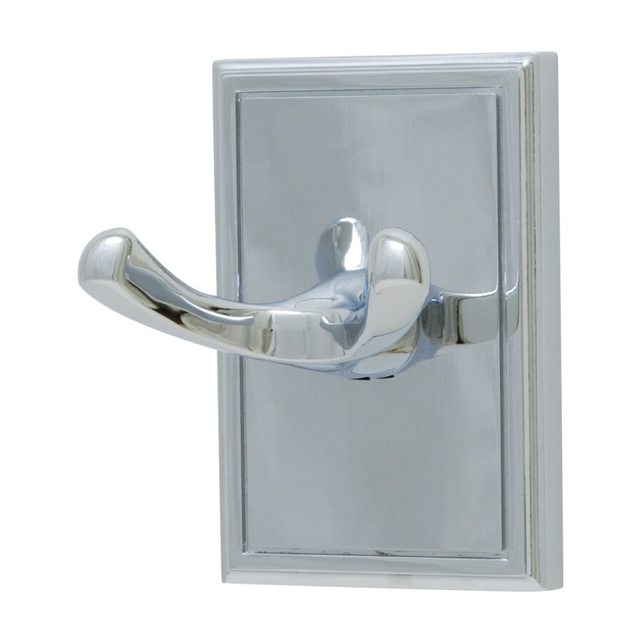 Residential Essentials Hamilton 2-Hook Polished Chrome Robe Hook