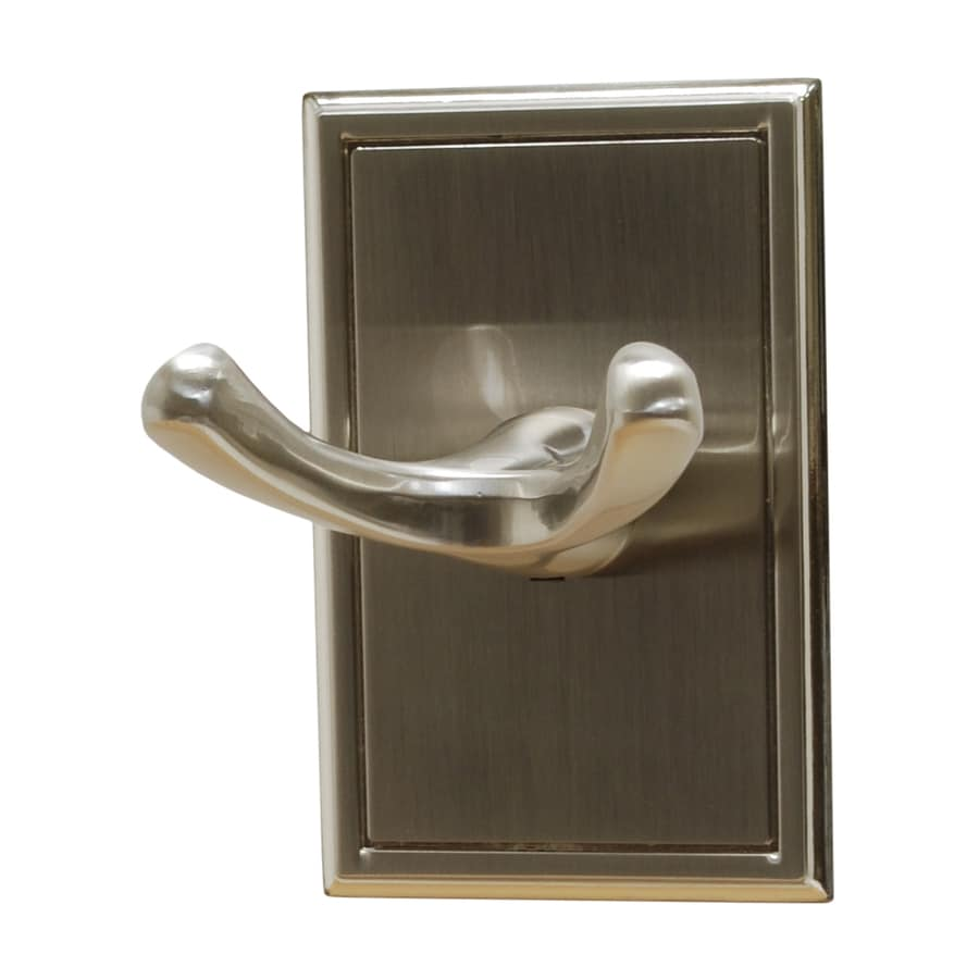 Residential Essentials Hamilton 2-Hook Satin Nickel Towel Hook