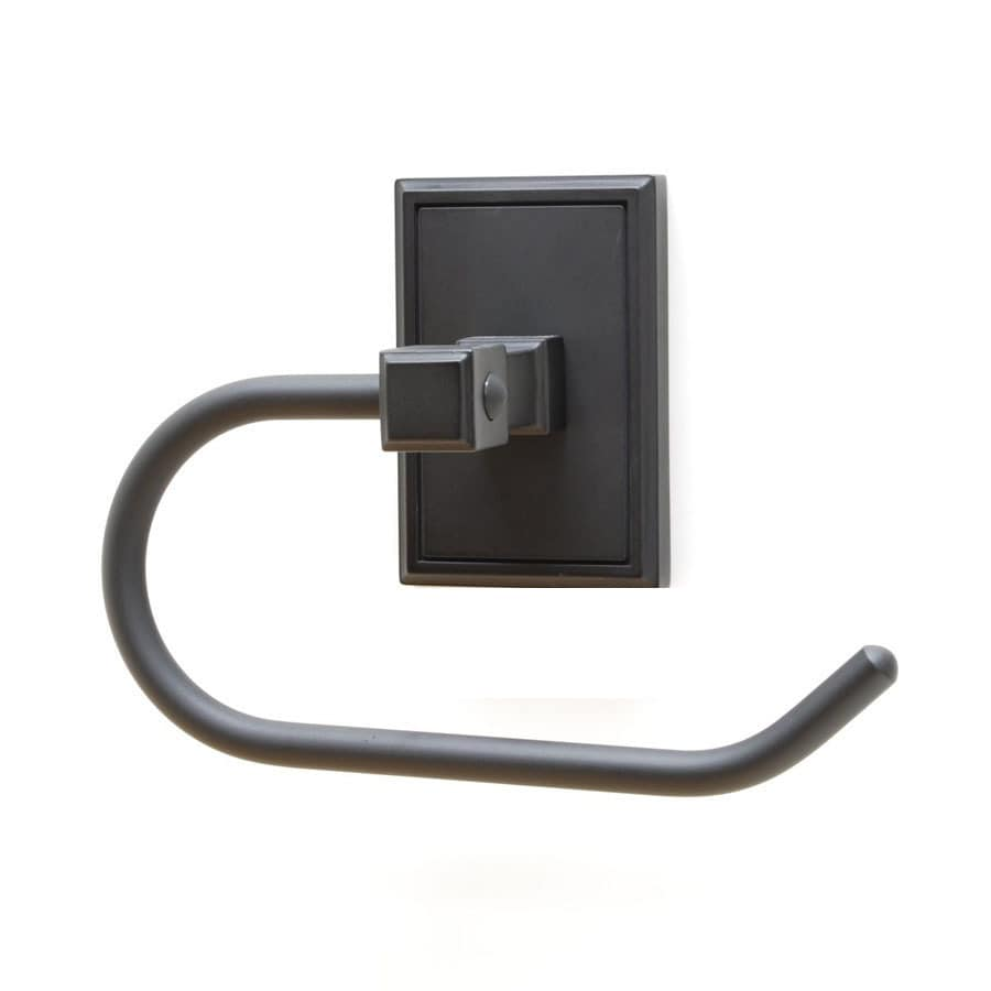 Residential Essentials Hamilton Black Surface Mount Toilet Paper Holder