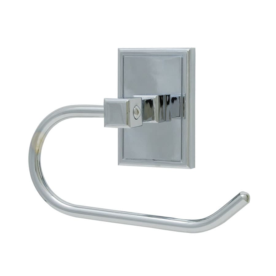 Residential Essentials Hamilton Polished Chrome Surface Mount Toilet Paper Holder