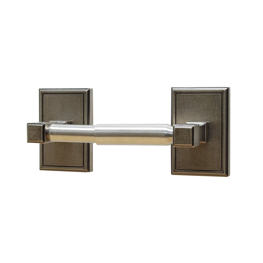 Residential Essentials Hamilton Aged Pewter Surface Mount Toilet Paper Holder