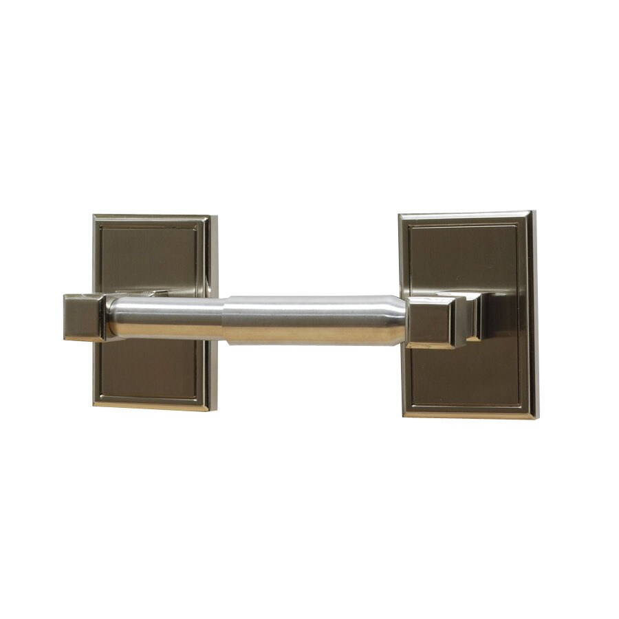 Residential Essentials Hamilton Satin Nickel Surface Mount Toilet Paper Holder