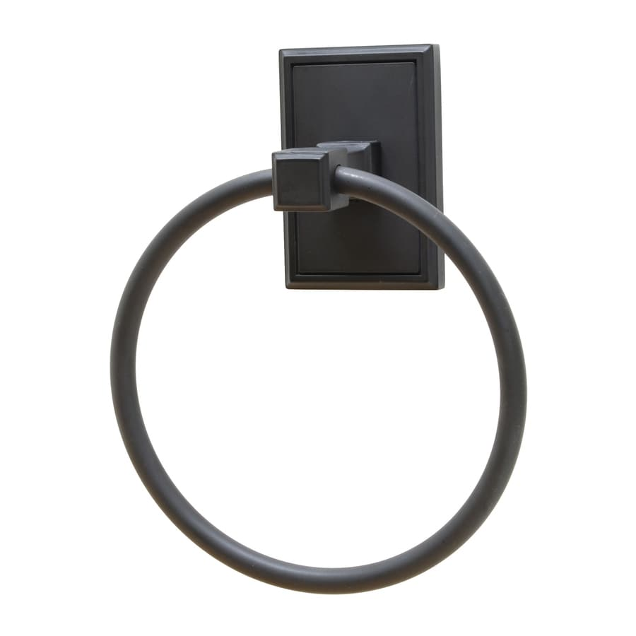 Residential Essentials Hamilton Black Wall-Mount Towel Ring
