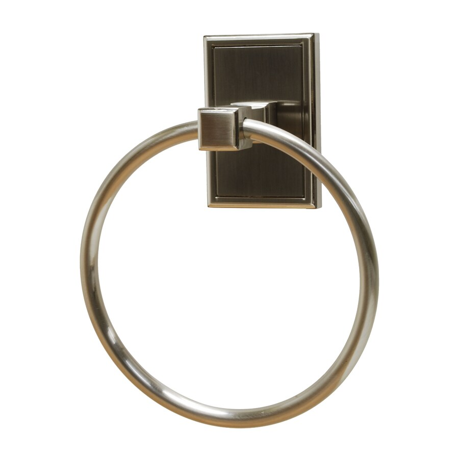 Residential Essentials Hamilton Satin Nickel Wall-Mount Towel Ring