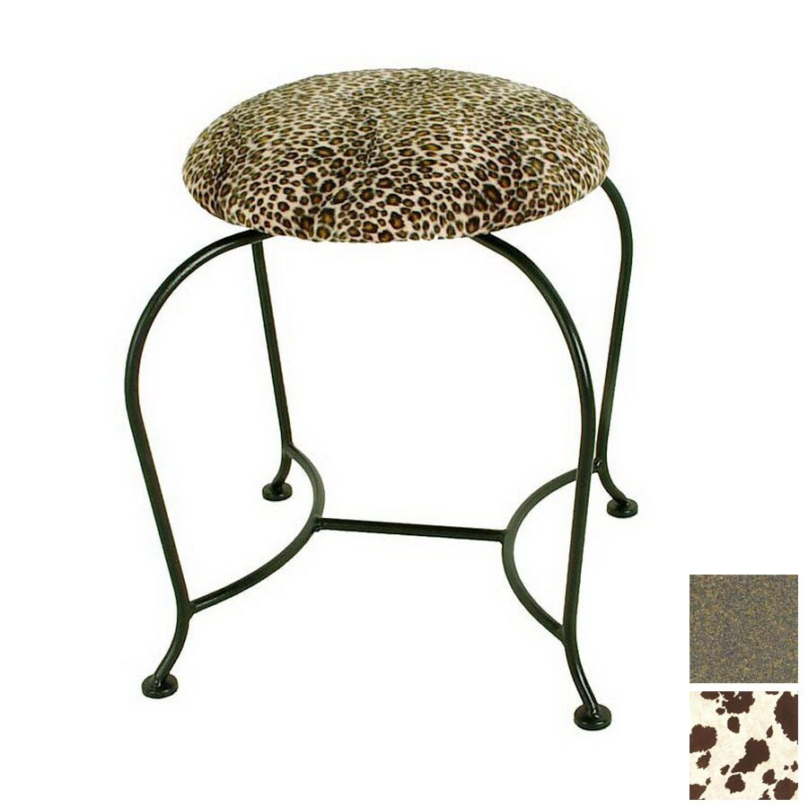 Shop grace collection 18 in h antique bronze round makeup vanity stool at - Antique vanity stools ...