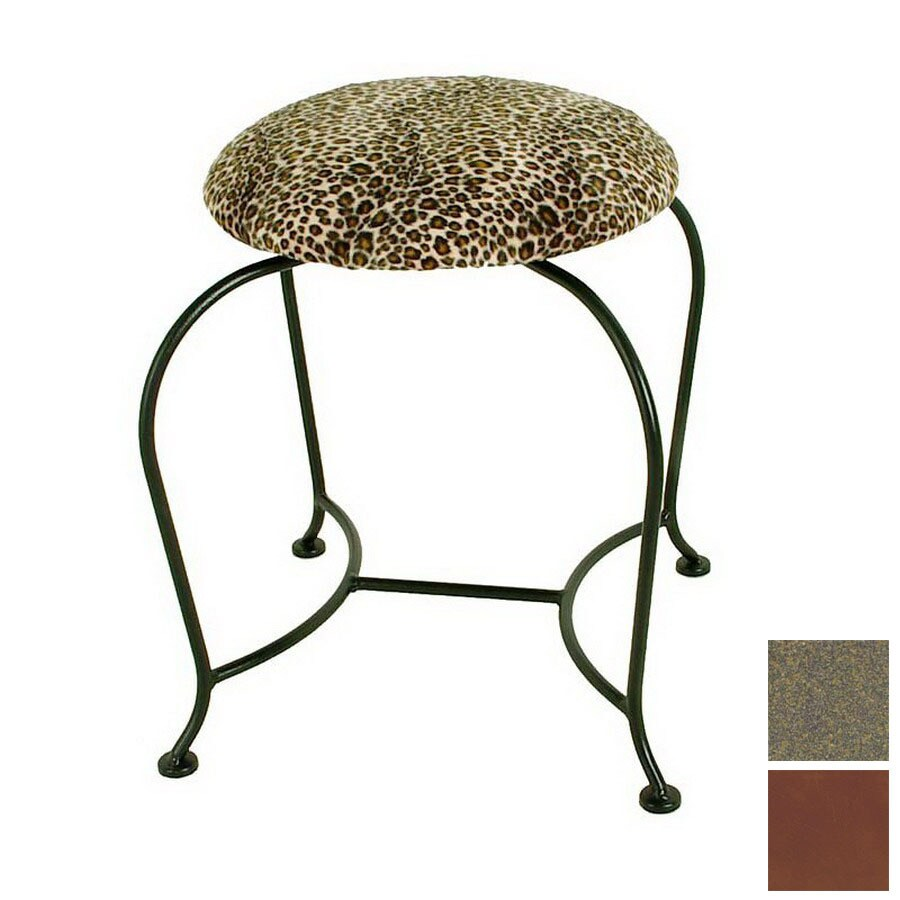 Grace Collection 18 In H Antique Bronze Round Makeup Vanity