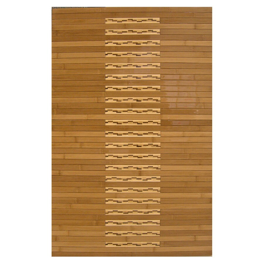 Bathroom Rugs 36 X 72: Shop Anji Mountain 36-in X 24-in Brown Wood Bath Mat At
